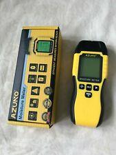 Azuno Wood Moisture Meter Pin Type Water Leak Detector With 9 Modes Digital