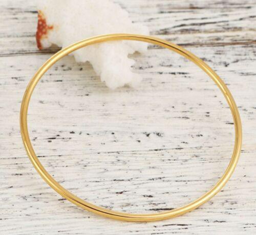 Stainless Steel Bracelet Bangle Bracelets Yellow Gold Plain 5.5 6 6.5 cm stB01g