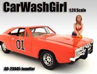 Car Wash Girl Jennifer Figure Red American Diorama Figurine 23945 1/24 Scale