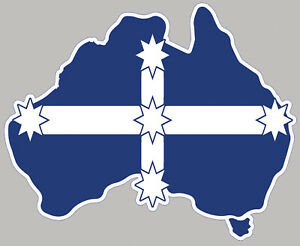 Australia Map With Flag.Details About Australia Pride Eureka Stockade Sticker Australian Map Flag Bumper Sticker Decal