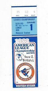 1983-ALCS-ticket-stub-Baltimore-Orioles-Chicago-White-Sox-Gm-1-LaMarr-Hoyt-WIN