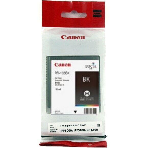 Genuine Canon PFI-103BK Black Ink Tank for imagePROGRAF iPF5100 iPF6100 iPF6200