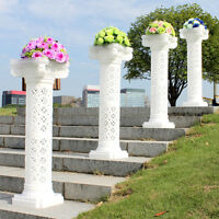 Wedding Decorative Plastic Roman Column Height Adjustable Hold Flowers Plates