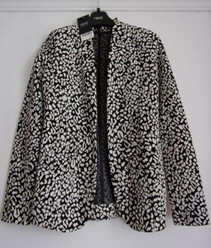 Next Black /& White Jersey Jacket Size 6 RRP £34