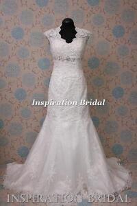 1377-White-Ivory-Wedding-Dresses-dress-bridal-gown-Bernadette-mermaid-key-hole