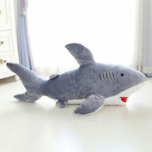 Big-Shark-Soft-Toys-Stuffed-Cushion-Large-Plush-Toy-Doll-Pillow-Birthday-45cm