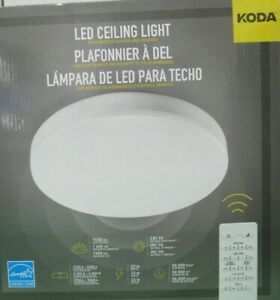 low priced feee5 fc676 Details about Koda LED Ceiling Light w/Motion Sensor & Remote, NEW o/b