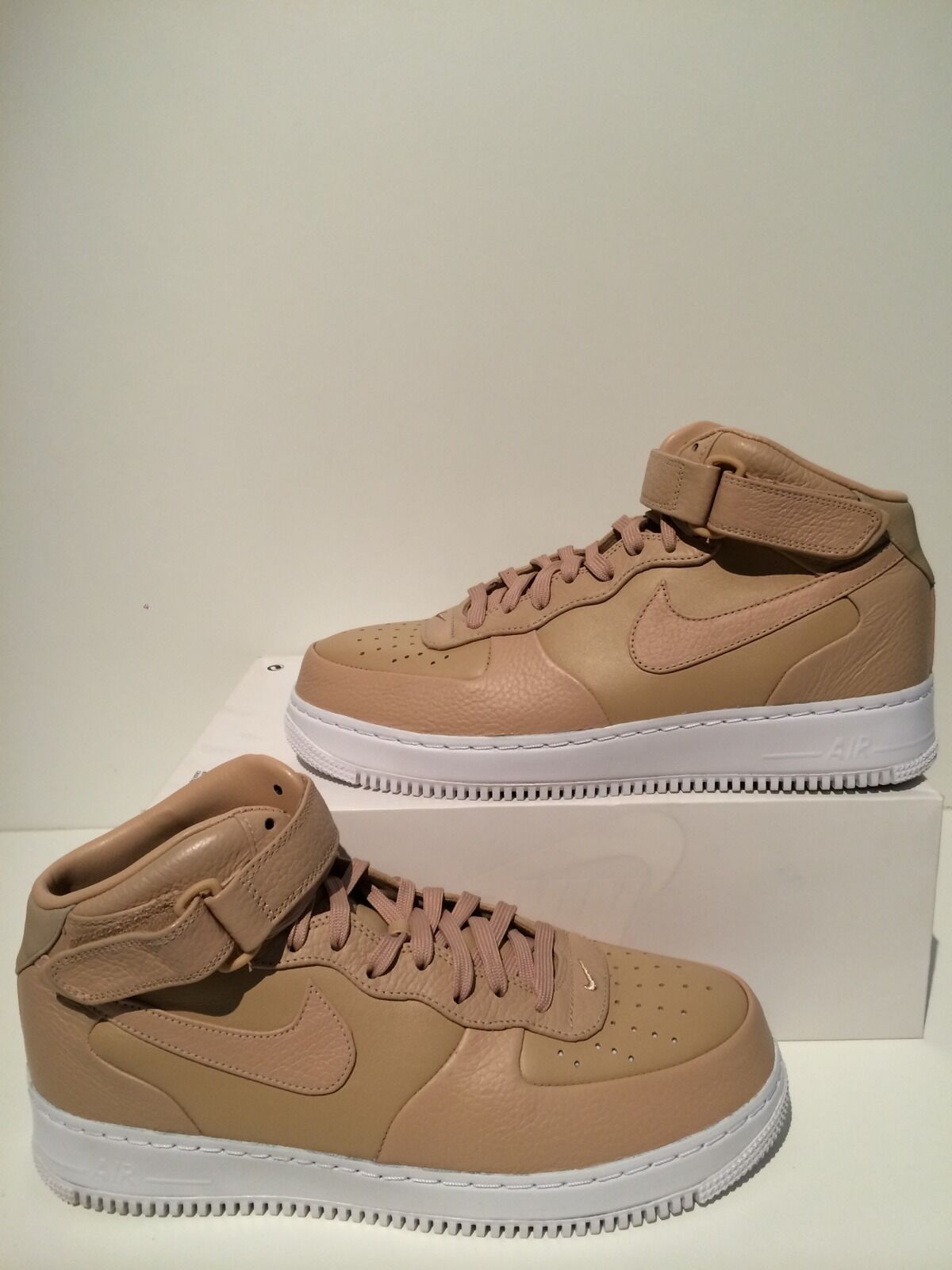 New NikeLab Nike AF1 Air Force 1 Mid Vachetta Tan Men's Size 11 819677 200