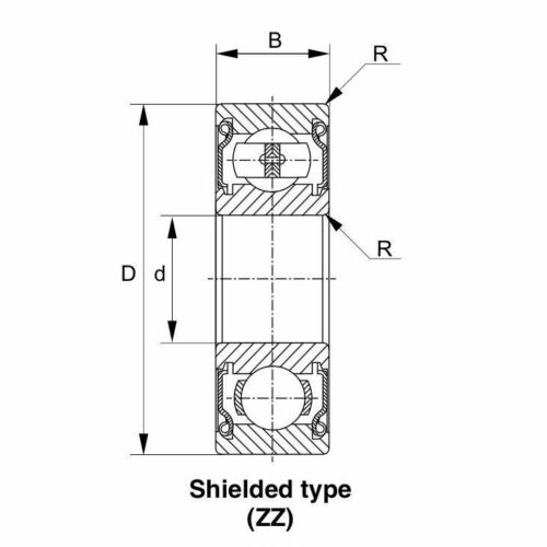 8x 6212-ZZ Ball Bearing 60mm x 110mm x 22mm Double Shielded Metal Seal NEW