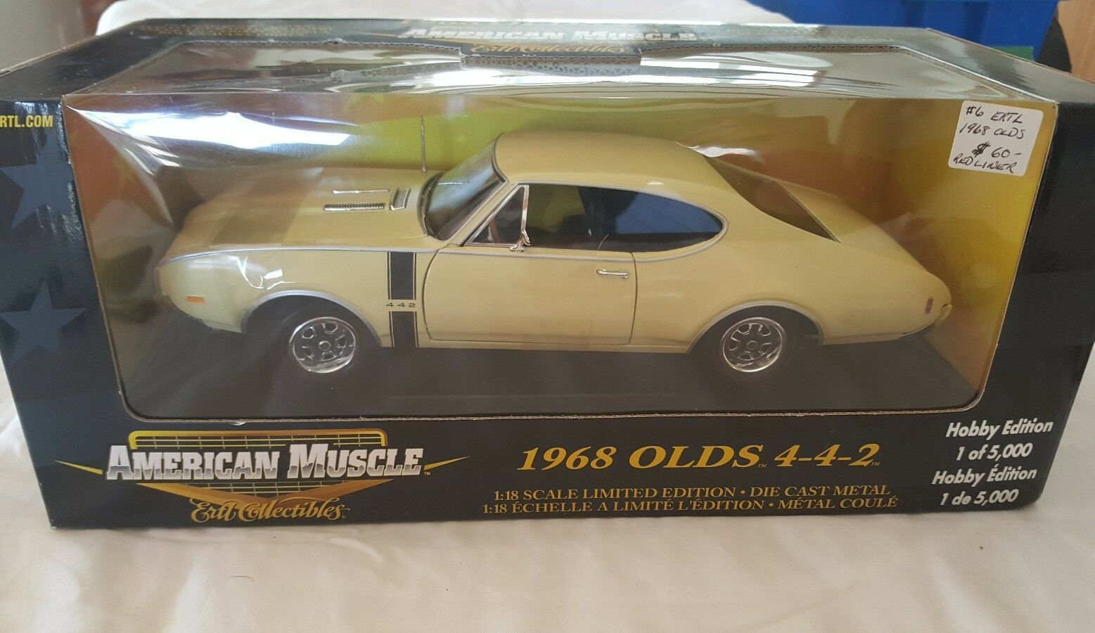 NEW ERTL COLLECTIBLES AMERICAN MUSCLE 1968 OLDS 4-4-2 4-4-2 4-4-2  (OF 5000)  1 18 SCALE 369f1d