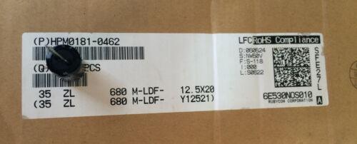 35ZL680M-LDF-12.5X20 RUBYCON CAPACITOR ALUM 680UF 35V RADIAL 12.5X20mm ROHS