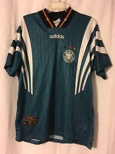 898646632fa VINTAGE GERMANY MNT EURO 1996 + 1998 GREEN 3 STAR ADIDAS SOCCER ...
