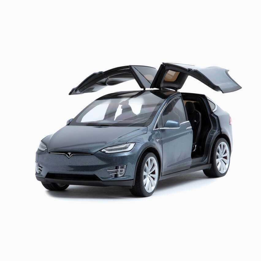 Official Tesla Model X P100D Performance Diecast 1 18 Scale Collectible Toy Car