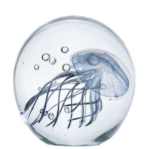 H-amp-D-3D-Jellyfish-Crystal-Ball-Table-Glass-Figurines-Paperweight-Ornament-Home