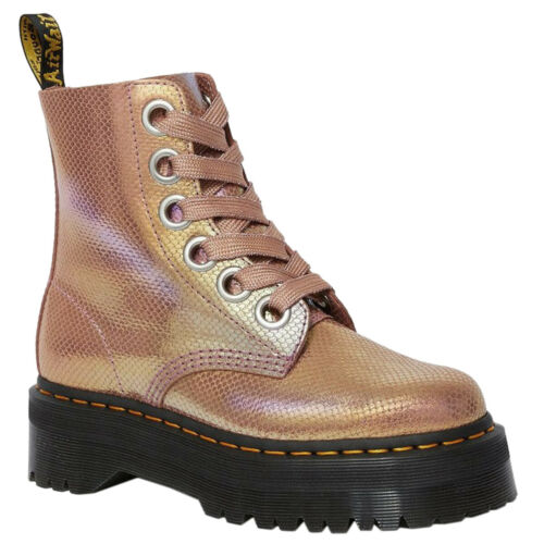 Dr.Martens Molly Leather Casual Platform Ankle Womens Boots