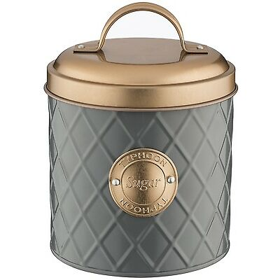 Typhoon Copper Lid Tea Coffee Sugar Set Canister Bread Bin Bread Crock