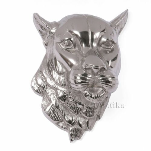Big Metal Tiger Wall Head Animal Sculpture Figurine Statue Wall Hanging Faux