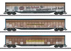 Märklin H0 3er-Set Schiebewandwagen Gedeckter Güterwagen (48063)