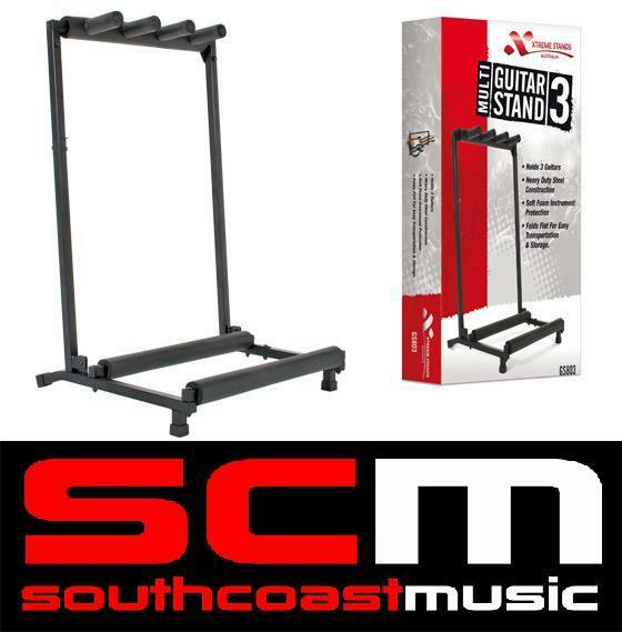 GS803 XTREME MULTI 3 GUITAR STAND HOLDS 3  ACOUSTIC - ELECTRIC OR BASS GUITARS