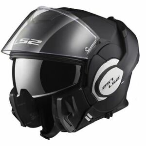 CASQUE-MODULABLE-SCOOTER-MOTO-LS2-VALIANT-NOIR-MAT-DOUBLE-HOMOLOGATION