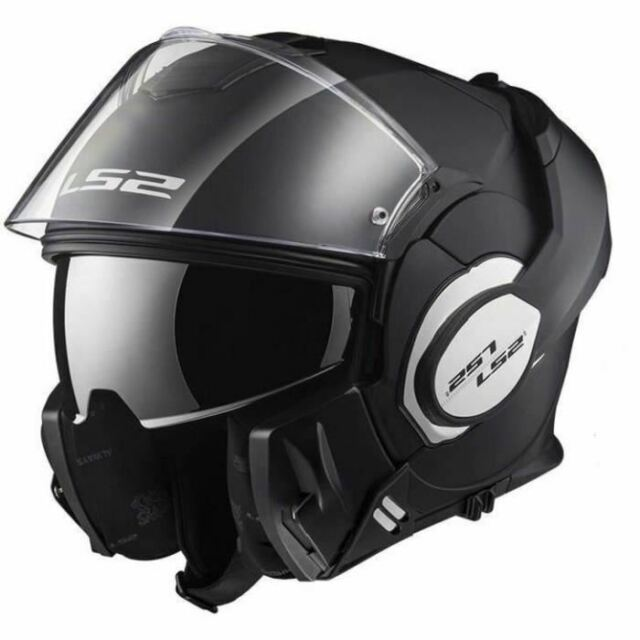 CASQUE MODULABLE SCOOTER MOTO LS2 VALIANT NOIR MAT DOUBLE HOMOLOGATION