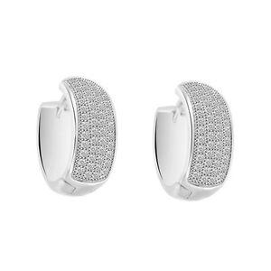 Image Is Loading Men 039 S Diamond Hoop Style Huggie Earrings