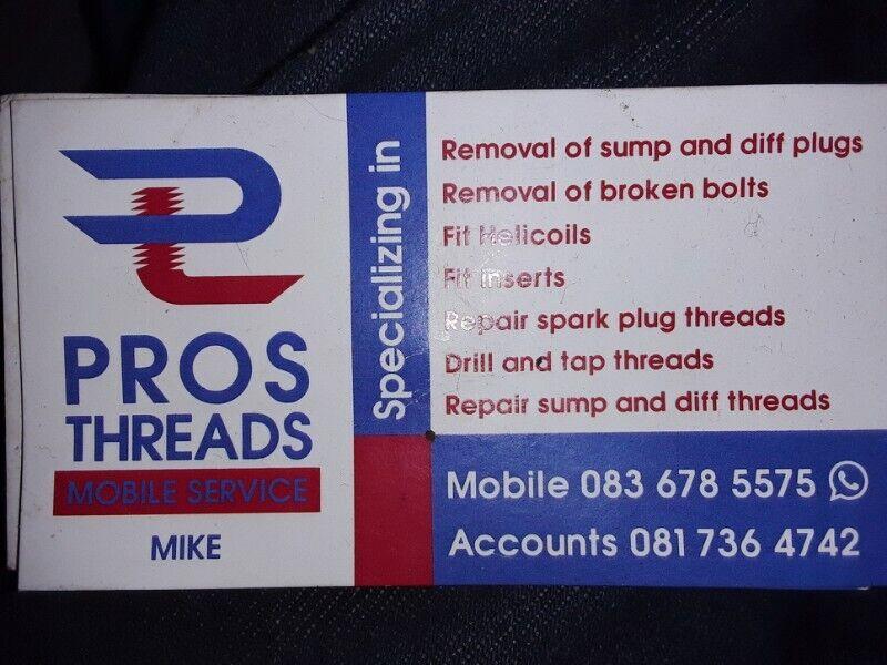 Pros Threads Broken bolt removals