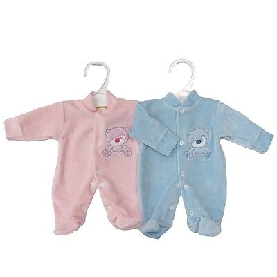 Nursery Time BNWT Baby Girls or Boys Soft Velour Squeaky Clean Sleep Suit NB 0-3 3-6 Months