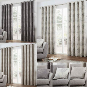Luxury-Eyelet-Fully-Lined-Ring-Top-Curtains-Elmwood-Choice-of-Sizes-amp-colours