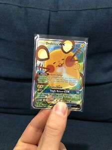 Dedenne GX 195a Alternate Art Full Art Unbroken Bonds Pokemon Promo Card