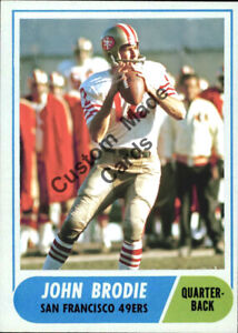 Custom-made-1968-San-Francisco-49ers-John-Brodie-football-card-white