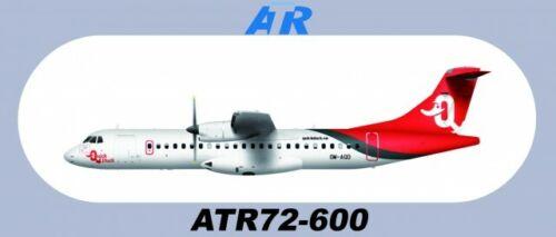 "7.87""*3.46"" QUICK DUCK ATR72-600 Sticker 1 PC About 20*8.8CM"
