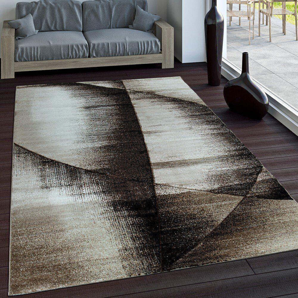 Modern braun Cream Rug Designer Carpet Living Room Bedroom Mat Small Extra Large