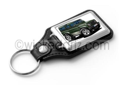 WickedKarz Cartoon Car Land Rover Defender 110 in Green Stylish Key Ring