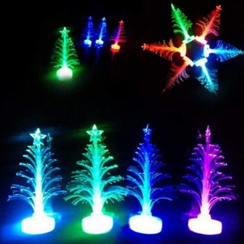 Bunte LED Fiber Optic Weihnachtsbaum Ständer Nachtlicht Weihnachten Geschenk