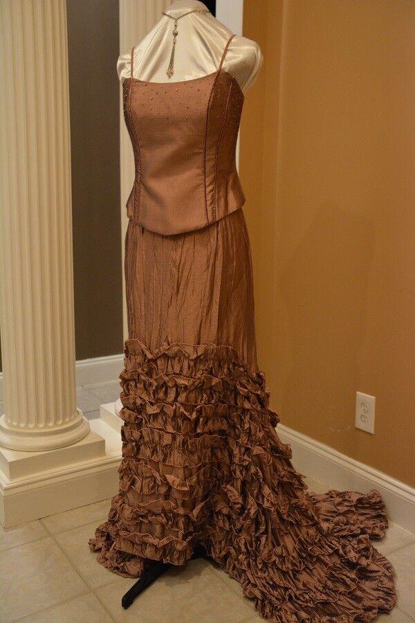 Stunning Mauve evening 2-Piece Corset dress sz.4 – by HipHop, Cruise, Formal