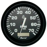 Faria Euro Black 4 Tachometer W/hourmeter - 7,000 Rpm (gas - Outboard)