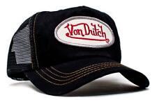 Authentic New Von Dutch Adult Black Black Baseball Cap Hat Trucker Mesh  Snapback 874b8a369e7