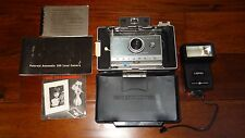 VINTAGE POLAROID AUTOMATIC 100 LAND CAMERA W/ INSTRUCTIONS, COLD CLIP, COLOR B&W