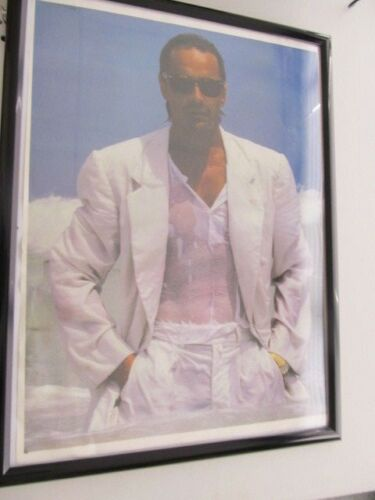 NOS DON JOHNSON - 17 X 23 - POSTER - MIAMI VICE ACTOR - CLOSE UP OF WET SHIRT