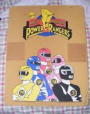 SUPER RARE 1994 Mighty Morphin Power Rangers 17x22 Cork Wall Board - RARE Saban