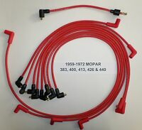 Big Block Mopar 1959-1972 383-400-413-426-440 Red Spark Plug Wires-points Usa