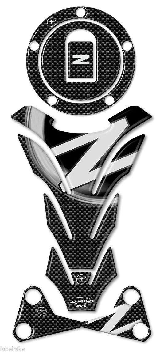 KIT ADESIVI IN RESINA GEL 3D Z750 compatibile per MOTO KAWASAKI Z 750 dal 2007
