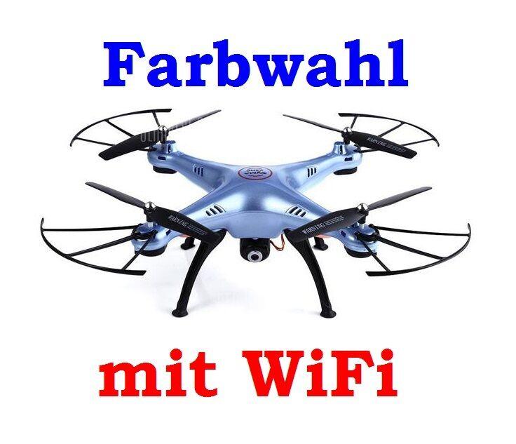 QUADROCOPTER DROHNE SYMA X5HW 2.4G mit KAMERA + FARBWAHL+ WIFI