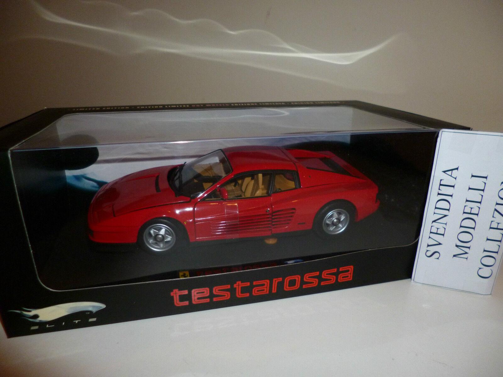 Ferrari TESTAROSSA tutta Rojo  Elite SONO LE PRIME rarissime NUOVE e Perfette