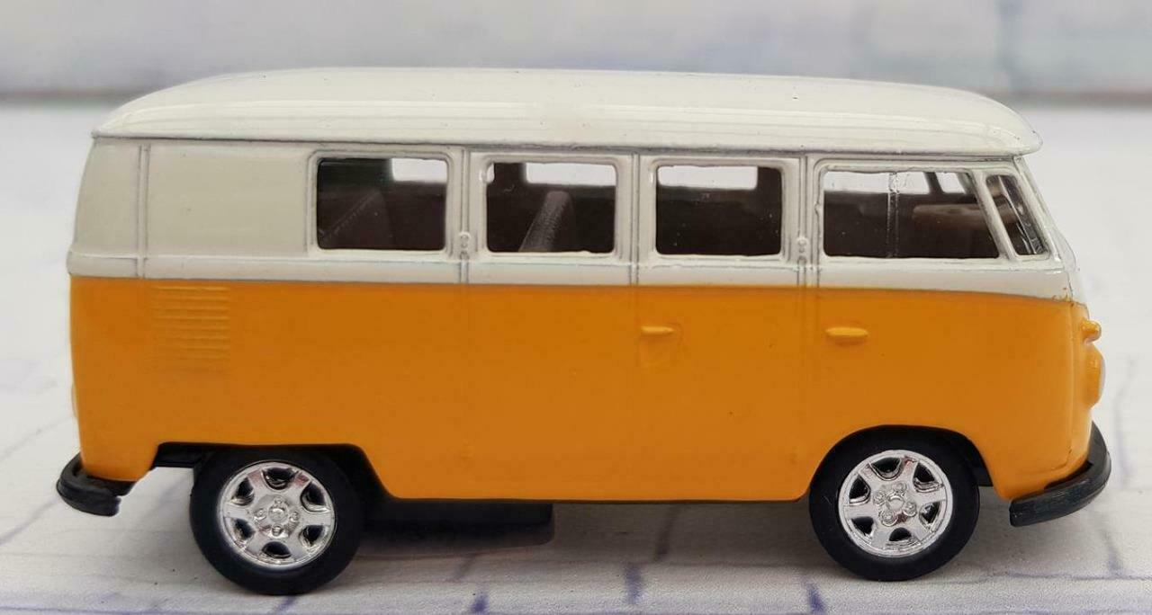 Yellow 1963 Scale Model Vw Volkswagen Hippie Camper Van Bus Toy Boxed 9329 For Sale Online Ebay
