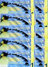LOT Antarctica, 10 x $1, 2011, Polymer -  Commemorative