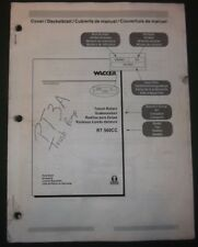 Wacker Rt 560cc Trench Roller Parts Catalog Book Manual