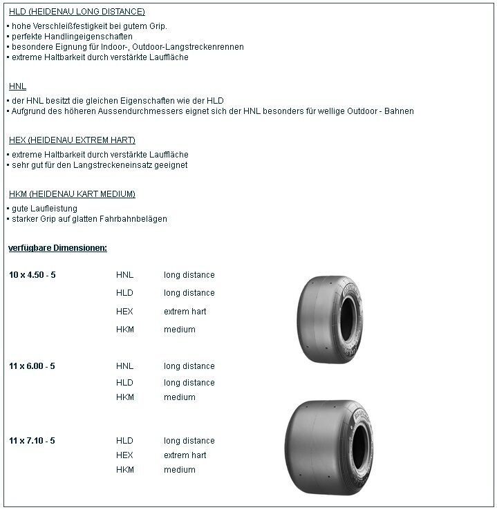 1 Satz Heidenau Kartreifen 2x HKM 10x4 50-5     2x HKM 11x6 00-5 cbb9b4