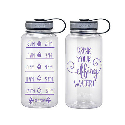 Water trackerdrink your effin waterwater bottlewater tumblerwater tumbler with straw  clear water bottlefunny water bottle